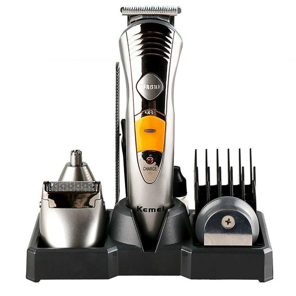 Аккумуляторная машинка для стрижки 7 в 1 волос и бороды Kemei KM-580A