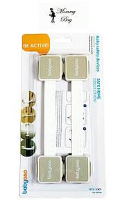 Универсальная защита для шкафов BabyOno Серая (2 шт)