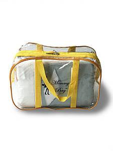 Сумка прозрачная в роддом Mommy Bag, размер - S, цвет - Жёлтый