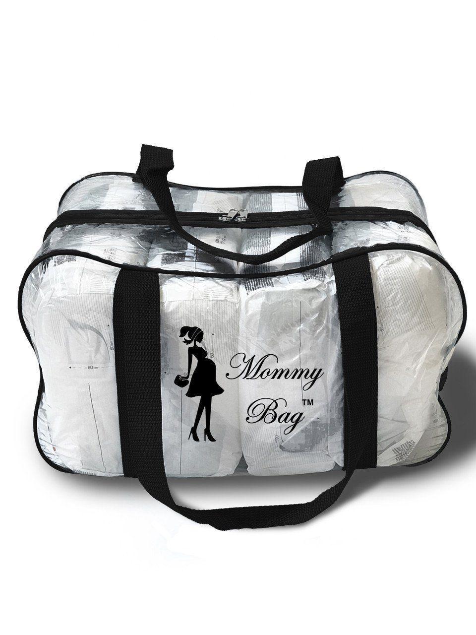 Сумка прозрачная в роддом Mommy Bag, размер - M, цвет - Черный