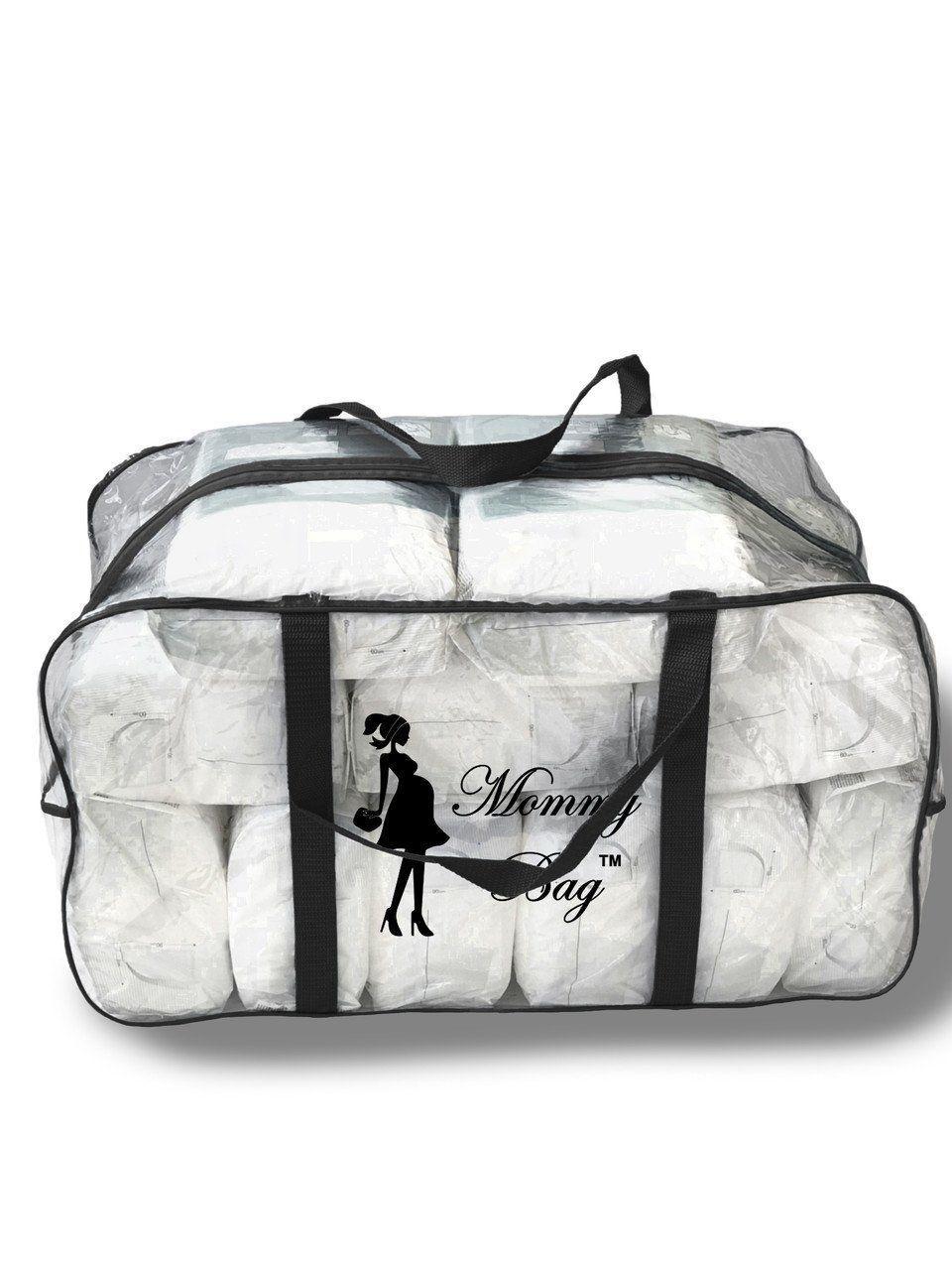 Сумка прозрачная в роддом Mommy Bag, размер - XL, цвет - Черный