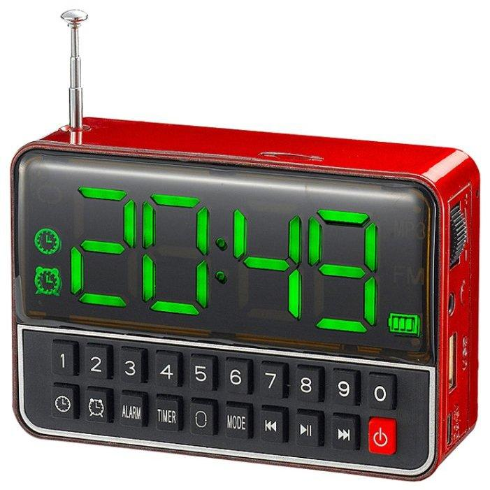 Радиоприемник WS-1513BT с часами и bluetooth