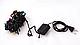 Светодиодная мульти гирлянда 200 led, черный провод, фото 2
