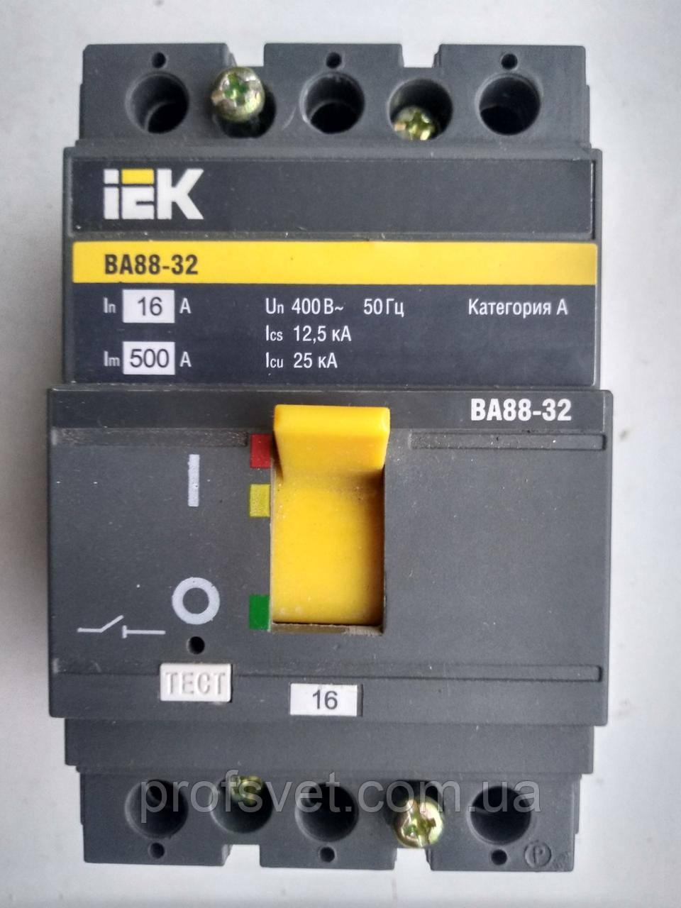 Автоматический выключатель ВА88-32 16А щитовой
