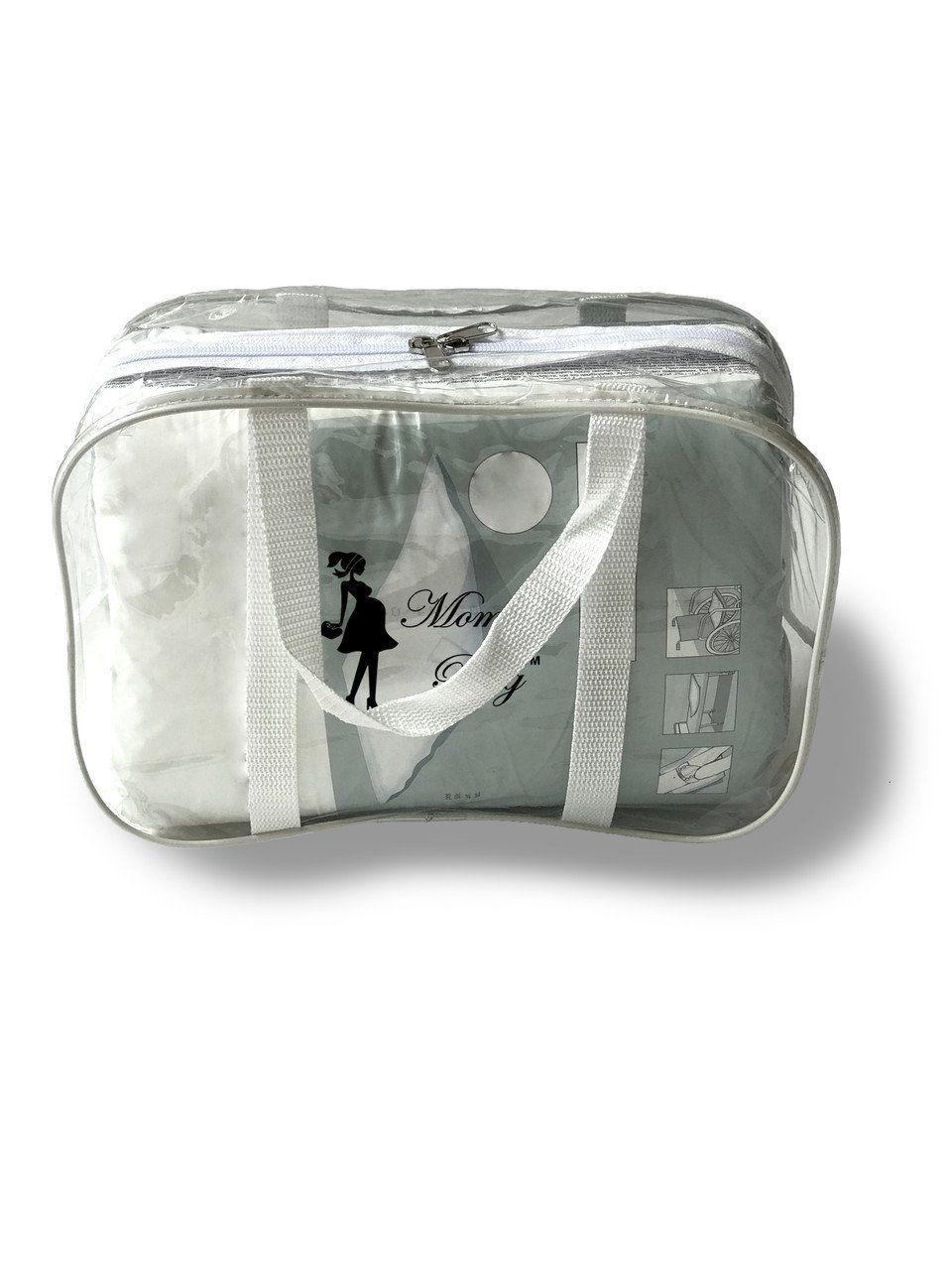 Сумка прозрачная в роддом Mommy Bag, размер - S, цвет - Белый