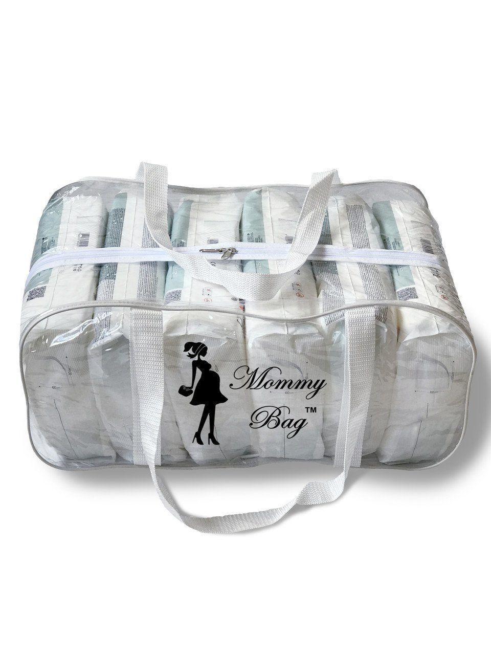 Сумка прозрачная в роддом Mommy Bag, размер - L, цвет - Белый