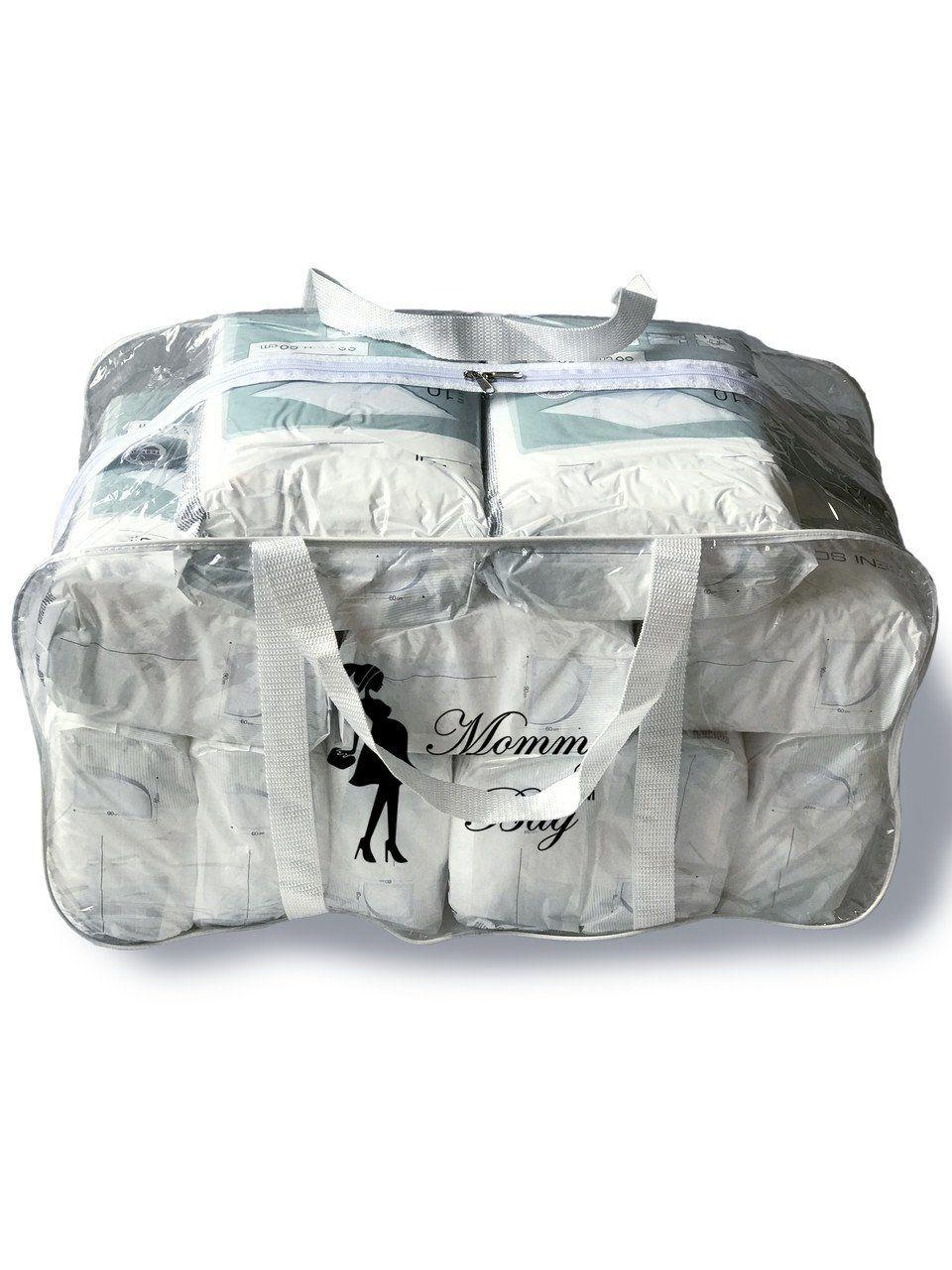 Сумка прозрачная в роддом Mommy Bag, размер - XL, цвет - Белый