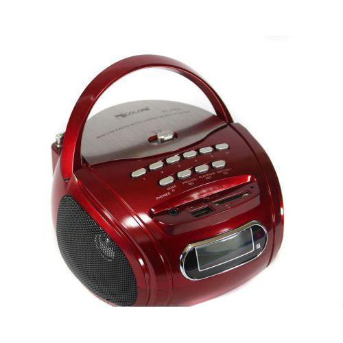 Бумбокс колонка караоке часы MP3 Golon RX 686Q Red