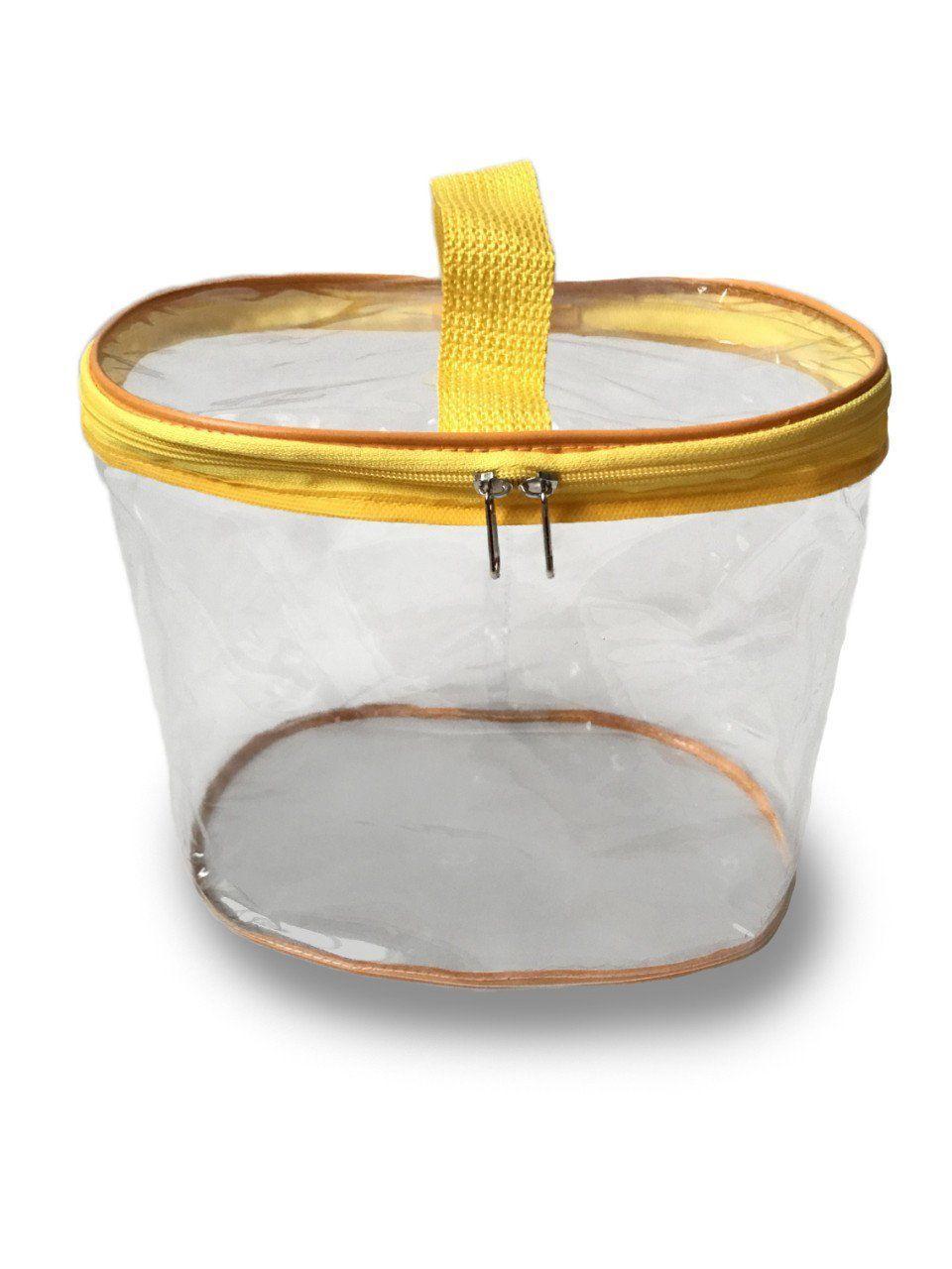 Сумка-органайзер прозрачная в роддом Mommy Bag, цвет - Жёлтый