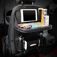 Автомобильный кожаный органайзер для заднего сиденья Folding Dinner Posture Back Handing Bag, фото 1