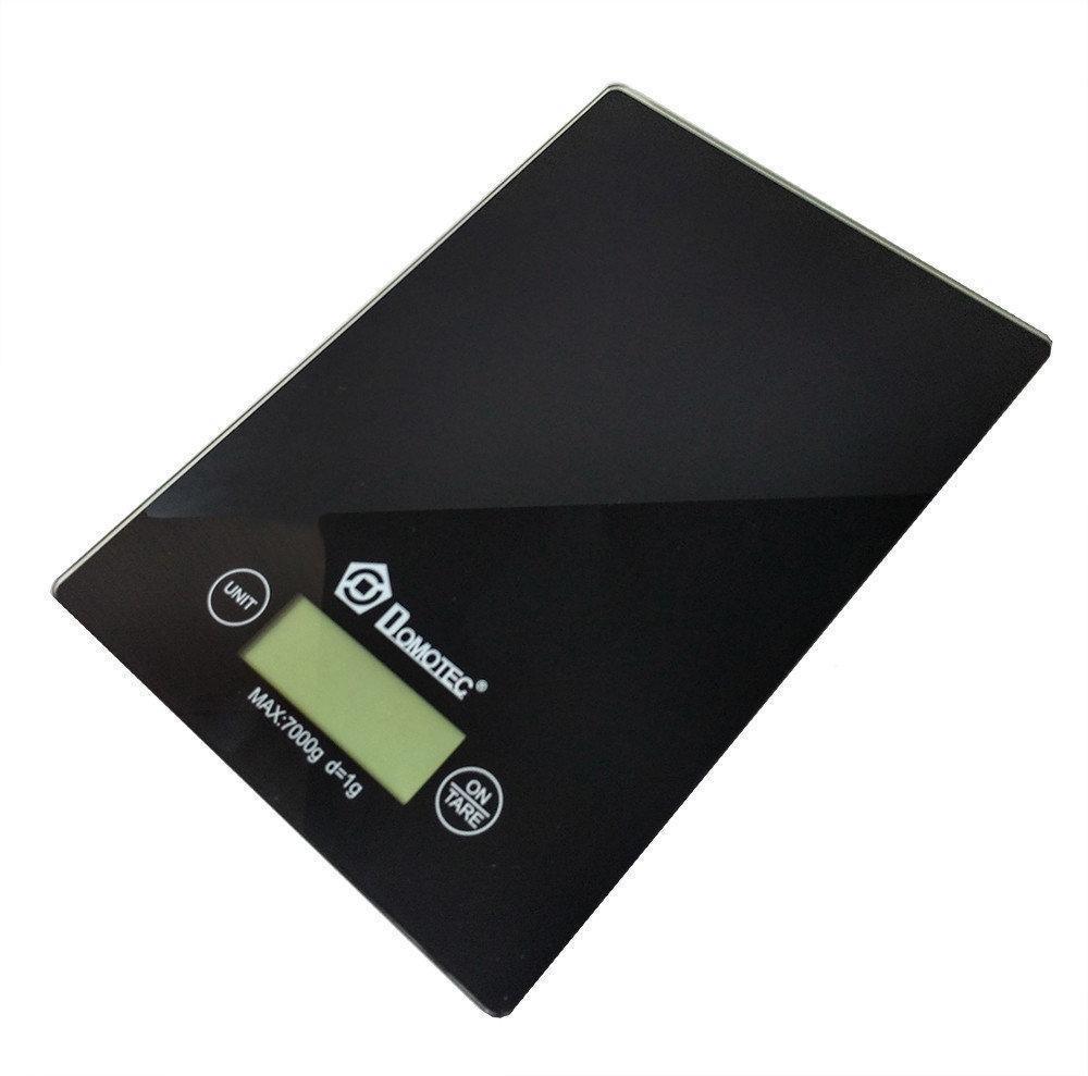 Кухонные электронные весы Domotec MS-912 от 1 гр до 7 кг Black Черные