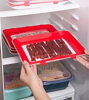 Умный поднос для хранения еды Находчивая хозяйка - контейнер с крышкой для нарезки и продуктов