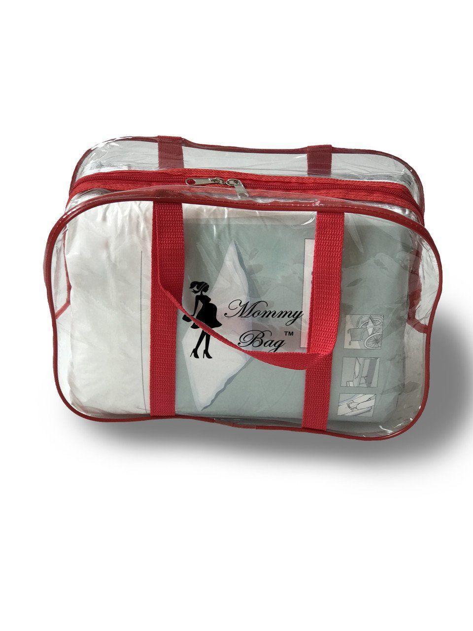 Сумка прозрачная в роддом Mommy Bag, размер - S, цвет - Красный