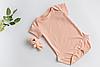 Боди 0-3 мес Персиковый, фото 7