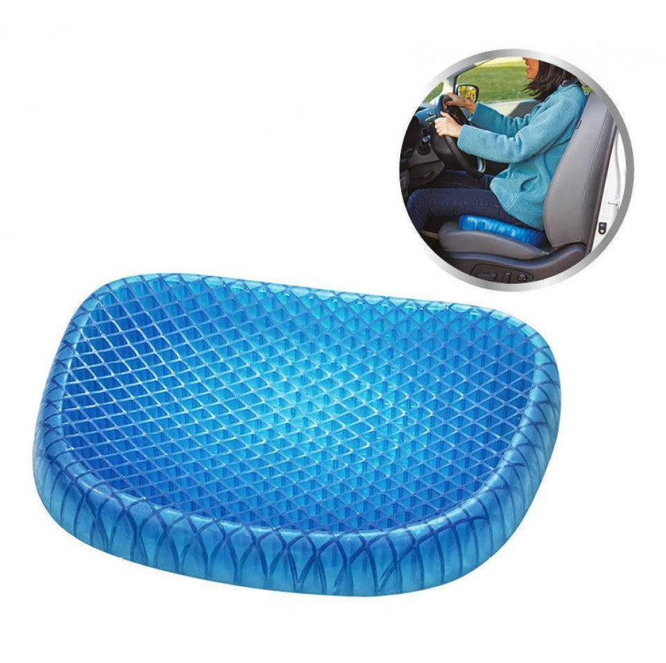 Гелева ортопедична подушка  на крісло сидіння автомобіля
