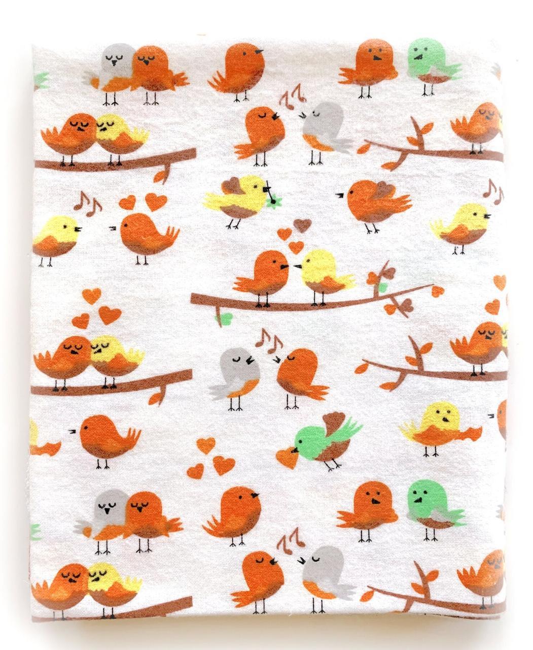 Фланелевая пеленка байковая Птички #9