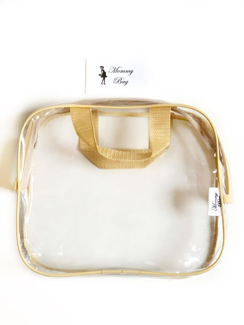 Косметичка Макси прозрачная Mommy Bag, цвет - Бежевый