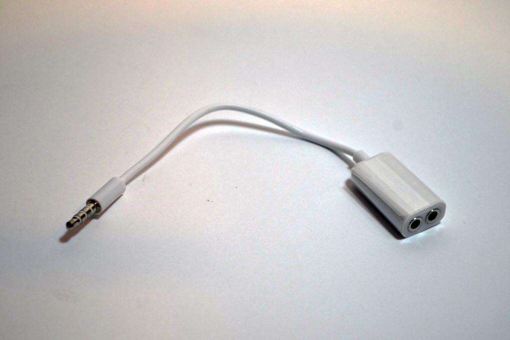 Аудио-кабель 3.5 jack M  2F 0,1м
