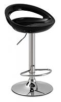Высокий стул барный Торре SDM пластик сидения черный опора металлическая хром