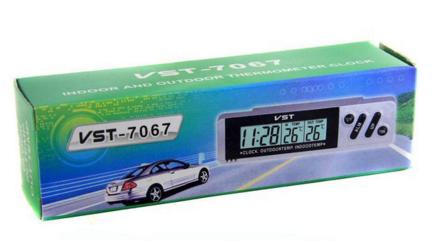Автомобильные часы с выносным термометром VST 7067 TDN