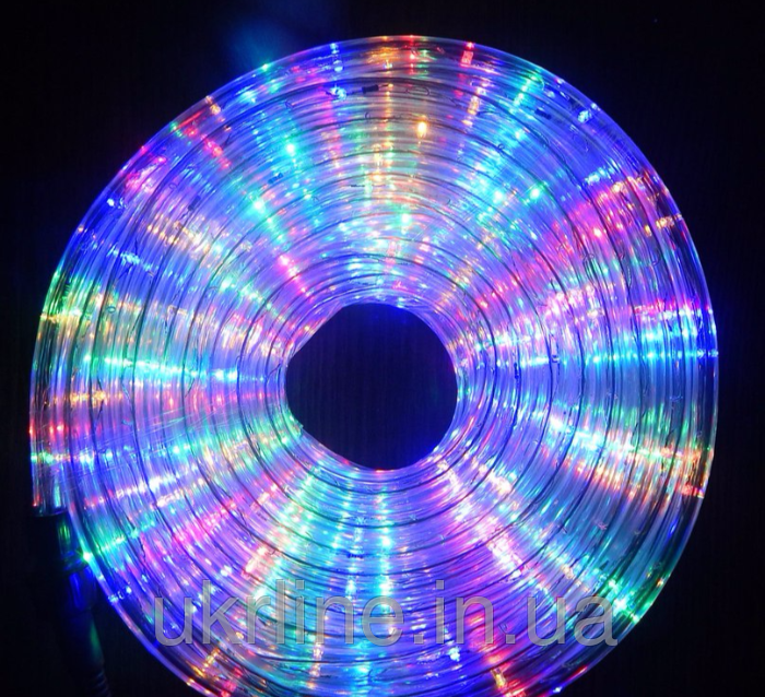 Светодиодный дюралайт LED 20м с контроллером мульти. Светодиодный шланг