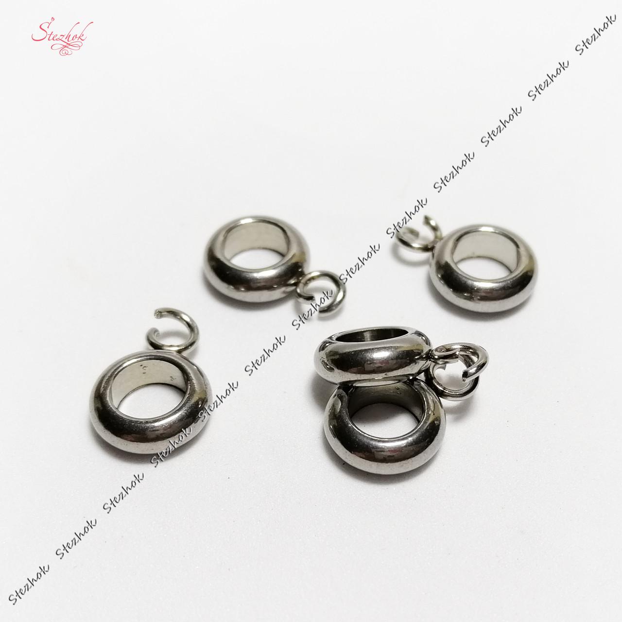 Металлические бейлы-бусины с кольцом 8 мм из нержавеющей стали для рукоделия
