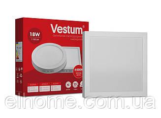 Светильник LED накладной квадратный 18W 4000K 220V ТМ Vestum