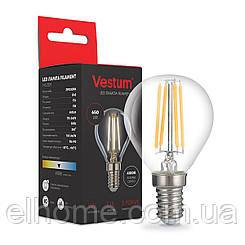 Лампа LED Vestum филамент G45 Е14 5Вт 220V 4100К