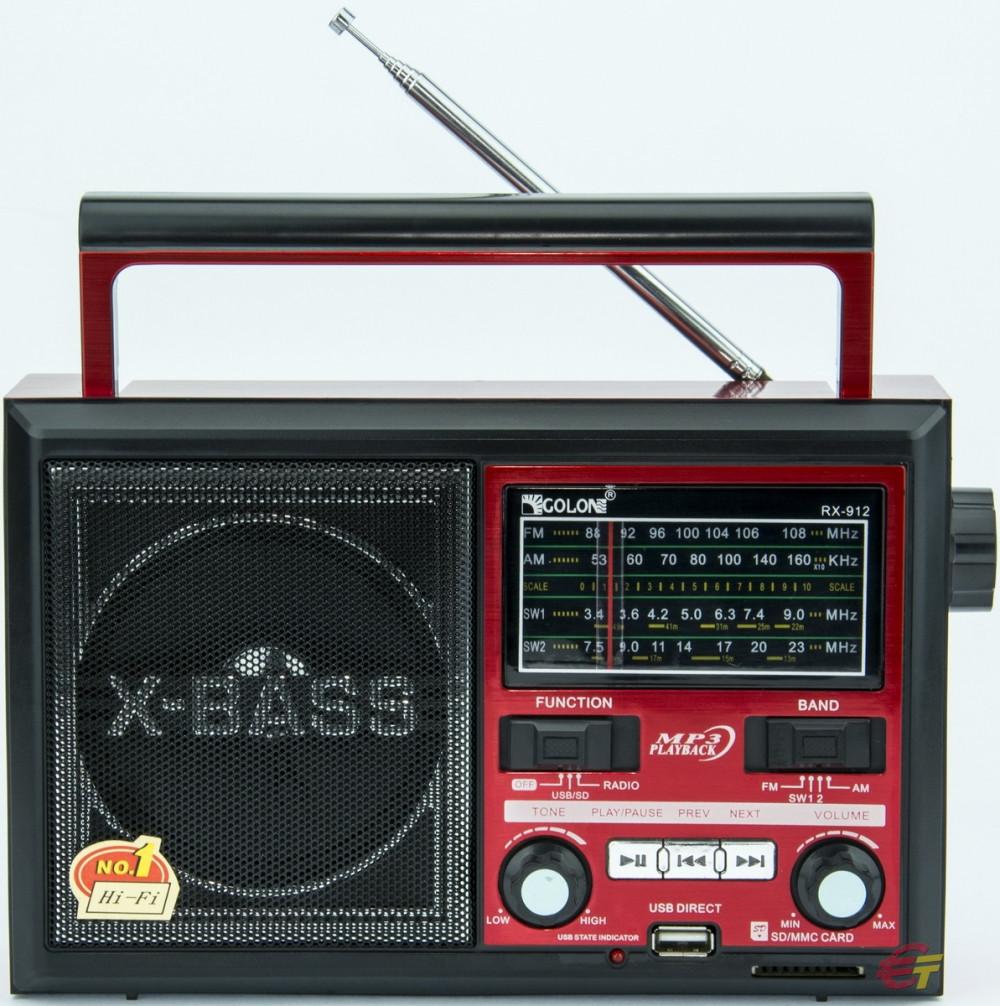 Радиоприемник Колонка MP3 USB Golon RX 912