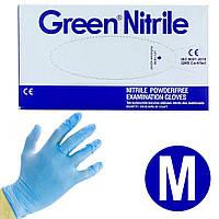 Перчатки нитриловые Green Nitrile M 100 шт, фото 1