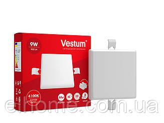Светильник LED без рамки квадрат 9W 4100K ТМ Vestum