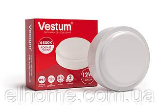Светильник ЖКХ LED 12W круг 4500K 220V Vestum IP65