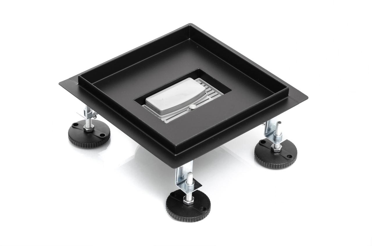 Квадратный трап для душа 200 мм Epelli Quattro 200 BLACK mat