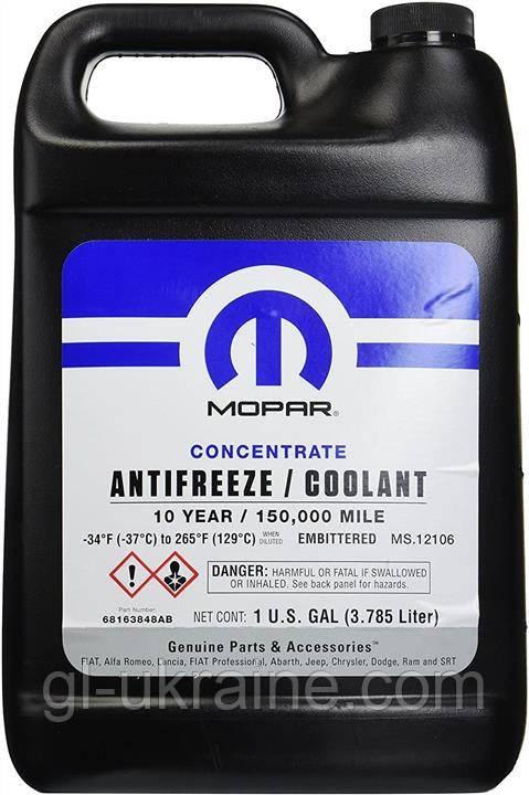 Антифриз концентрат Mopar Chrysler Antifreeze 68163848AB 10 YEAR, 3.78 л