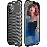 Чехол Carbon Case для Apple iPhone 12 Pro Black