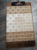 Набор ковриков в ванную и туалет 100*60 см Banyolin Коричневый