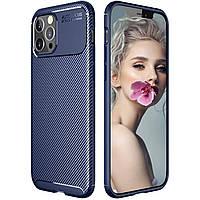 Чехол Carbon Case для Apple iPhone 12 Pro Blue