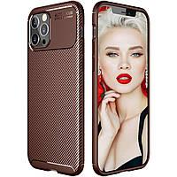 Чехол Carbon Case для Apple iPhone 12 Pro Brown