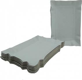 Тарелки одноразовые бумажные 13*19см  прямоугольная 100 шт