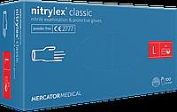 Перчатки нитриловые Mercator Nitrylex Classic L 100 шт, фото 1