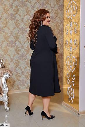 Нарядное женское батальное платье, фото 2