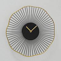 Настенные часы черные с золотом 35см коллекция Yoko Гранд Презент 1021291