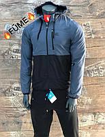 Мужские ветровки Nike синий.Чоловічі куртки Nike синій.