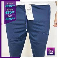 Мужские спортивные штаны Puma синий. Чоловічі спортивні штани Puma сіний.
