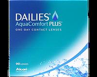 Однодневные контактные линзы Alcon Dailies AquaComfort Plus 90шт.