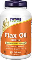 Льняное масло нау фудс препараты для сердечно-сосудистой системы Now Foods Flax Oil 1000mg 250 гелевых капсул