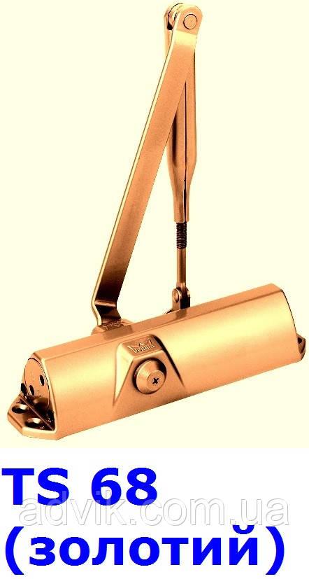 Доводчик Dorma TS 68 з важільною тягою (золотий)