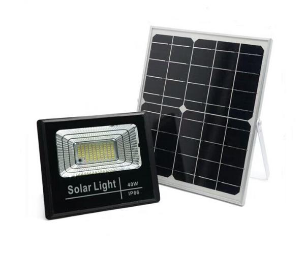 Прожектор на солнечной батарее FOYU 40 Вт Черный (FO-8840)