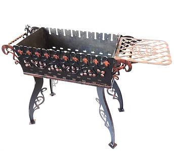 Мангал Еліт Ковка сталь Чорний (R001), фото 2