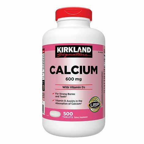 Kirkland Signature Calcium 600 мг. с витамином D3 10 мкг., 500 таблеток